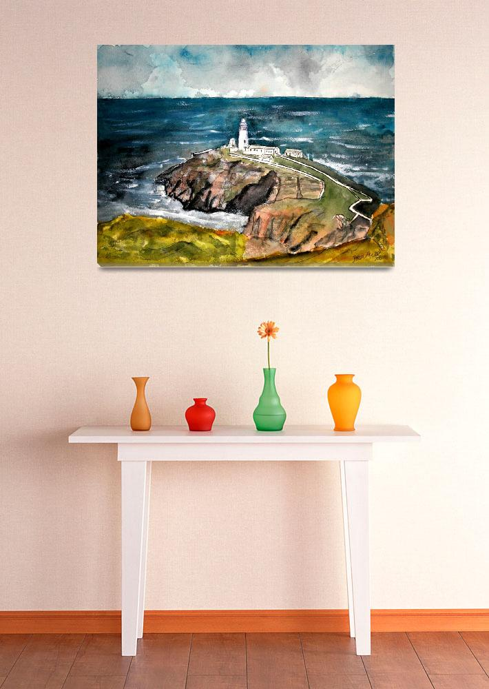 """south stack lighthouse""  (2008) by derekmccrea"
