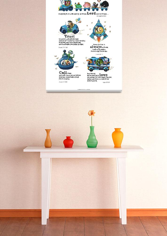 """""""Scripture Wall Art for Kid Nursery Play Room&quot  (2015) by blackcabbit"""