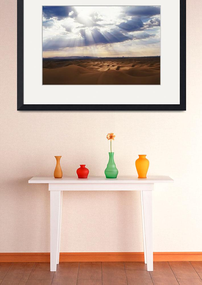 """""""Heavenly Light - Glamis Dunes&quot  (2004) by Shutterbug2"""