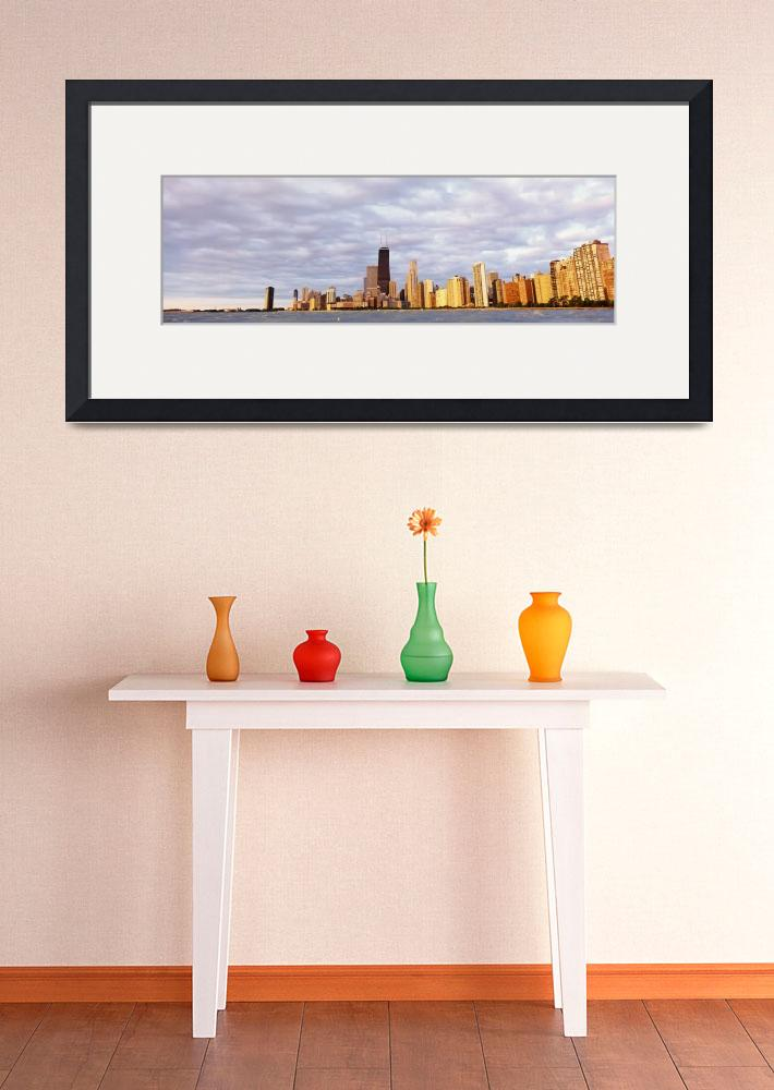 """""""Skyline and John Hancock Building Chicago IL&quot  by Panoramic_Images"""