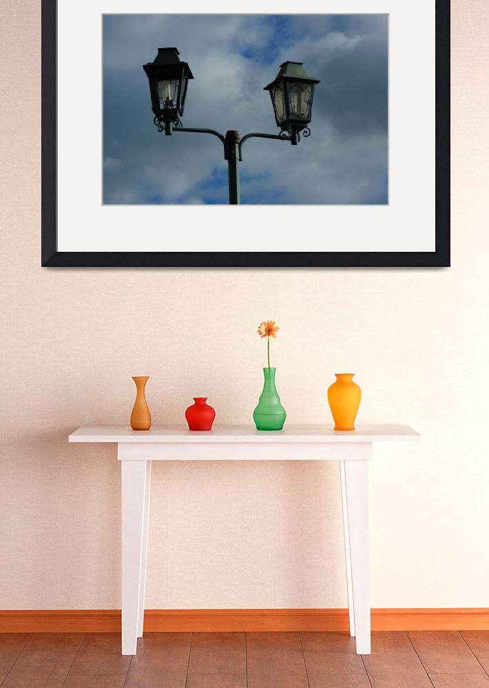 """""""Lamp Stand With Two Lights&quot  (2015) by rhamm"""