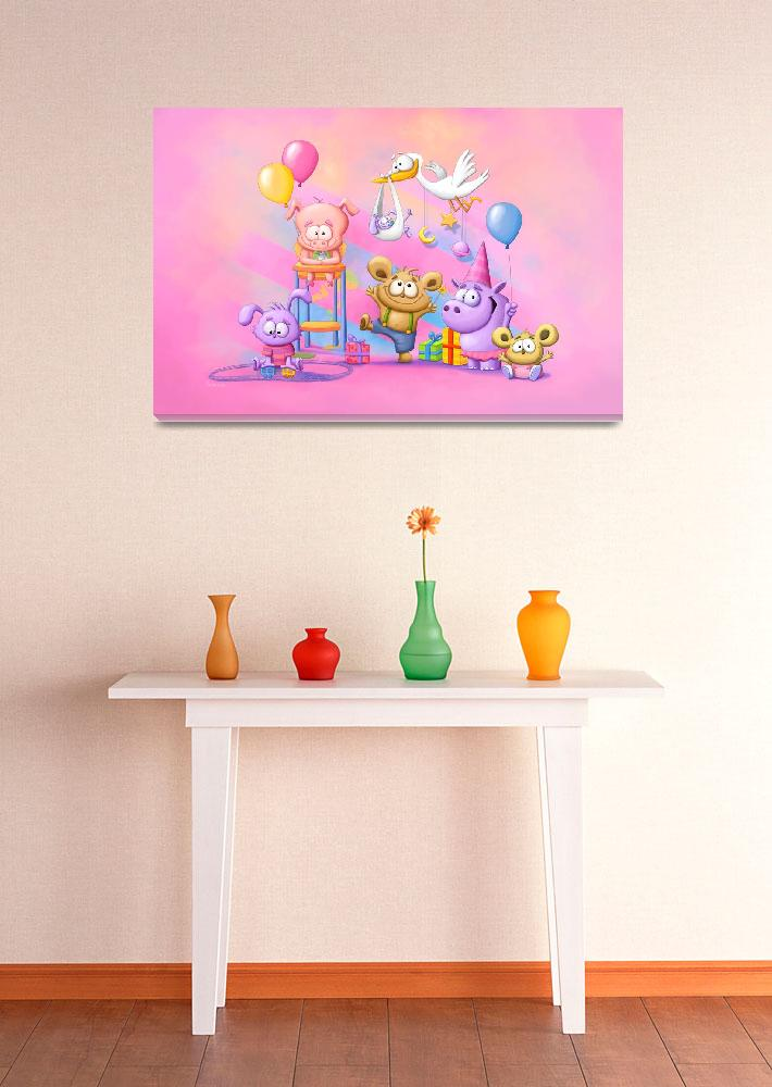 """""""Pink Baby Party""""  (2009) by Tooshtoosh"""