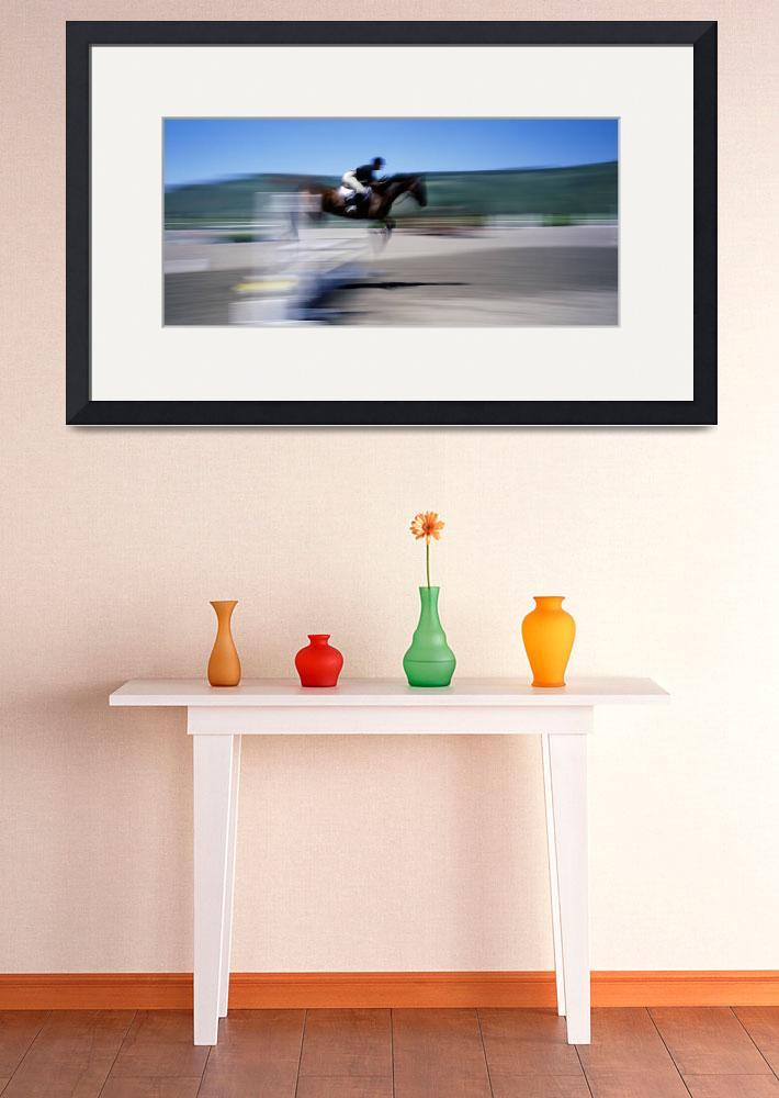 """""""Stadium Jumping Spring Creek Equestrian Center Ja&quot  by Panoramic_Images"""