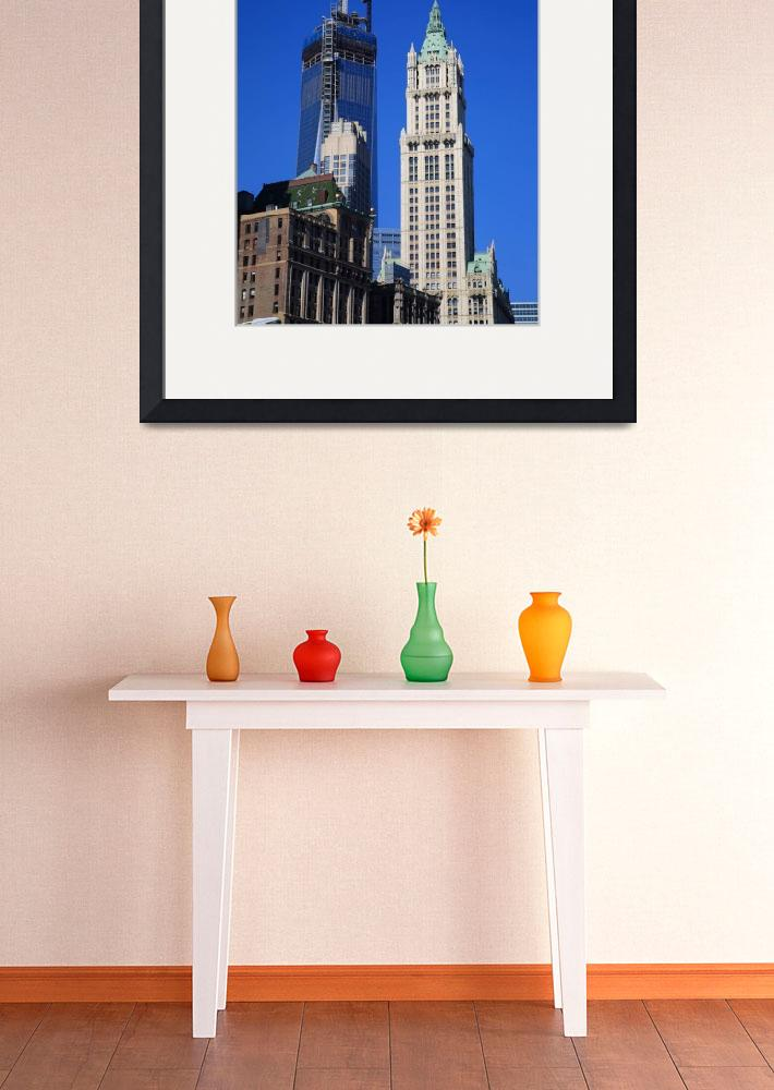 """Freedom Tower and Woolworth Building 2013""  (2013) by Ffooter"