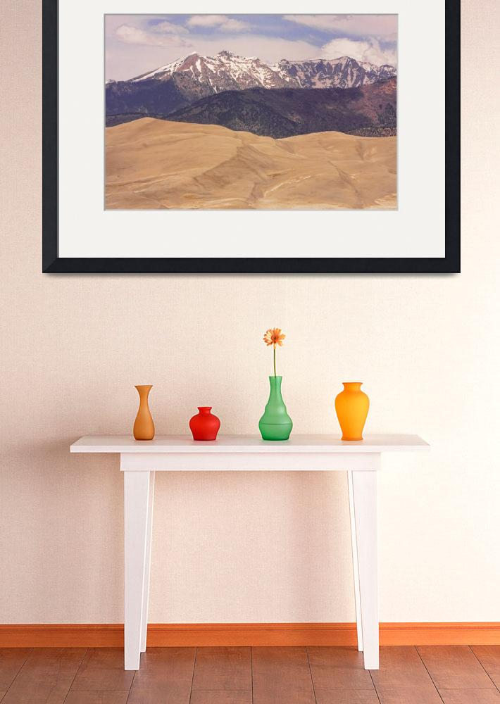 """""""Sangre de Cristo Mountains and The Great Sand Dune&quot  (2010) by lightningman"""