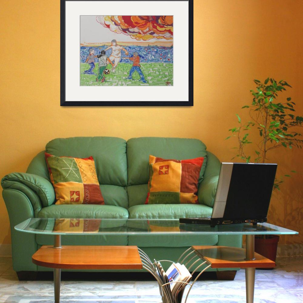 """""""soccer1&quot  (2011) by tonymaddgraphics"""