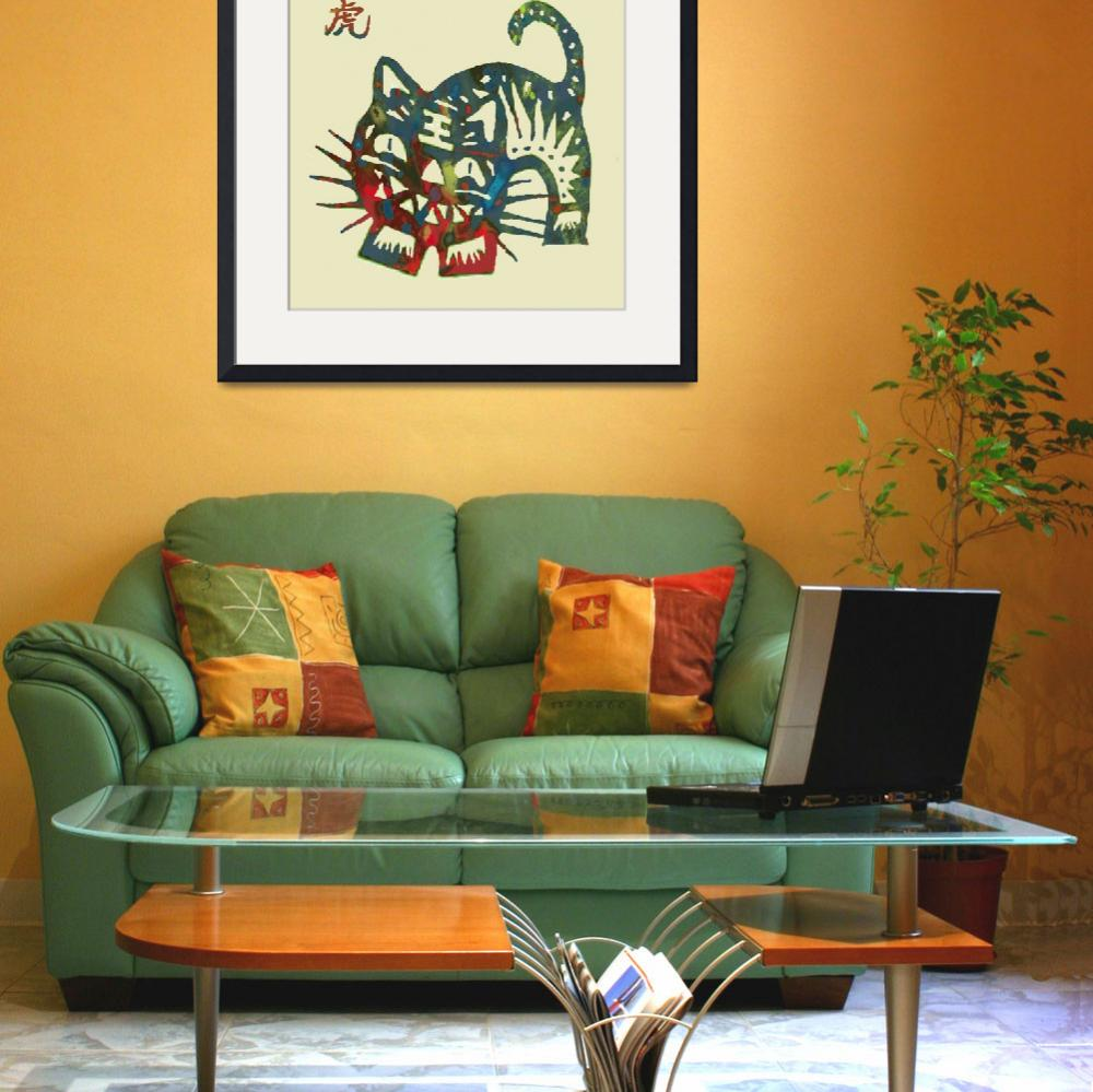 """""""The Chinese Lunar Year 12 Animal - Tiger  pop art""""  (2013) by visualharbour"""