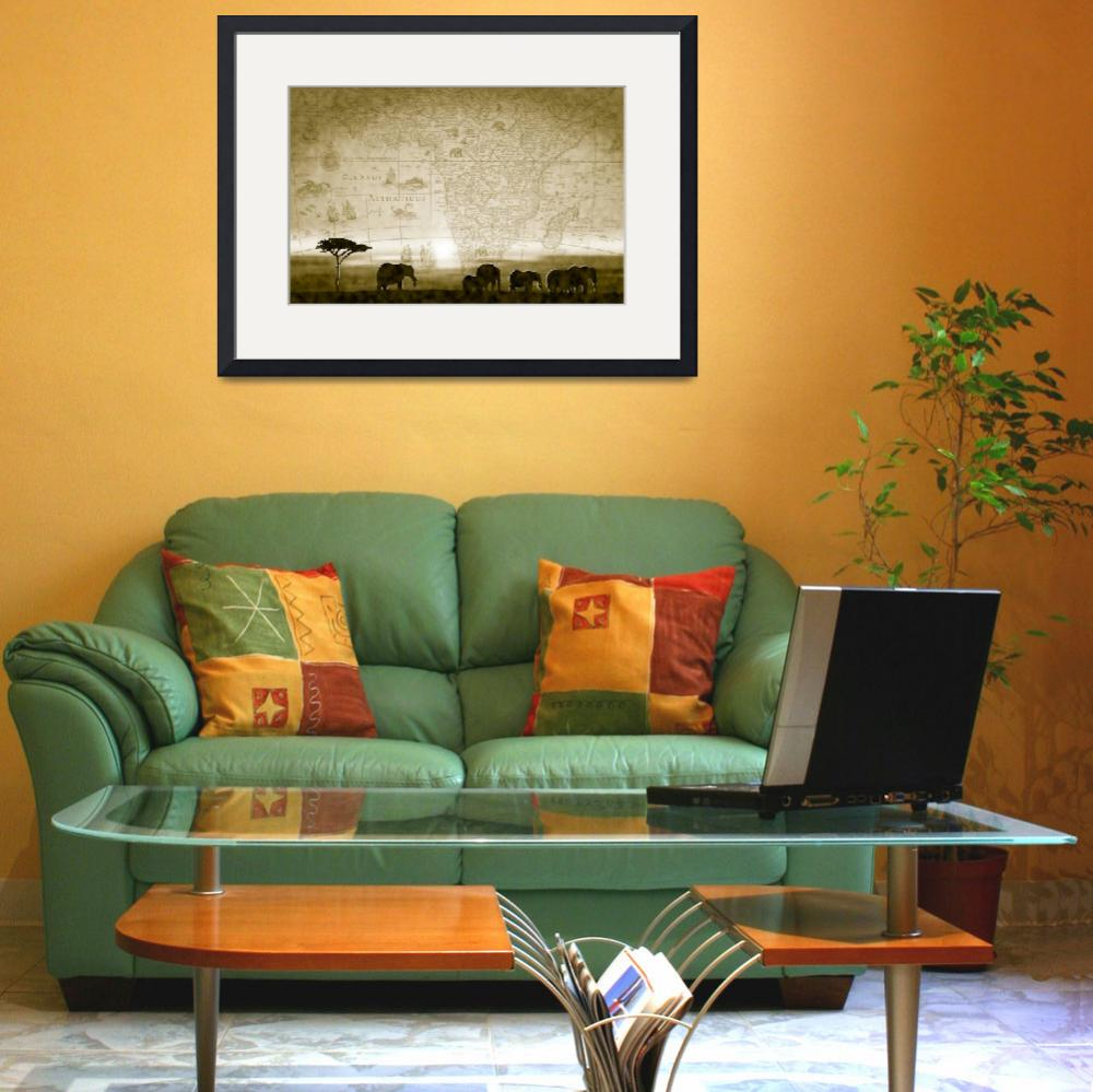"""""""Old World Africa Antique Sunset&quot  (2010) by Art_By_Design_Studio"""