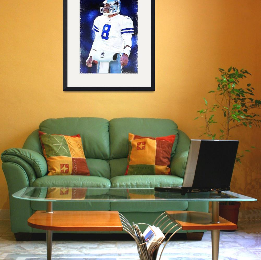 """Troy Aikman, Dallas Cowboys, NFL Art""  (2011) by artofvela"