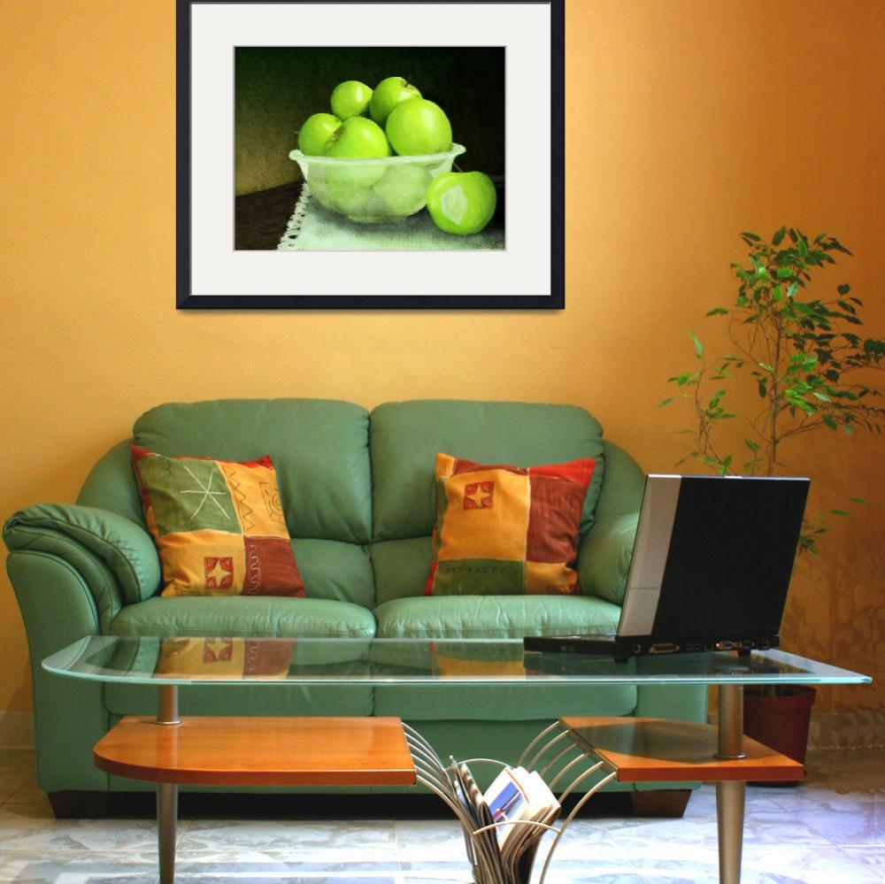 """""""Apples in Glass Bowl Still Life&quot  (2011) by night"""
