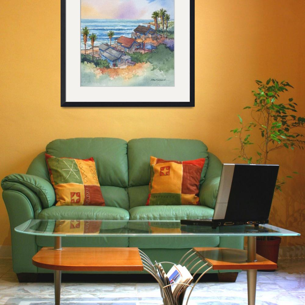 """""""Coastal Bungalows&quot  by WillyDaleArt"""