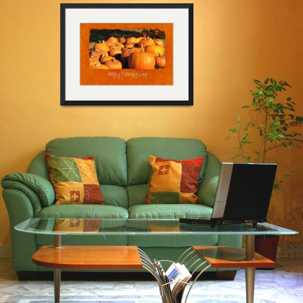 """""""Halloween Pumpkins 4 - Happy Thanksgiving&quot  by ChristopherInMexico"""