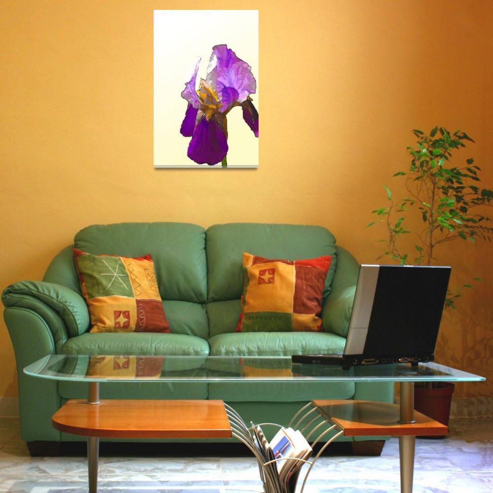 """Isolated Purple Bearded Iris""  (2010) by noelzialee"