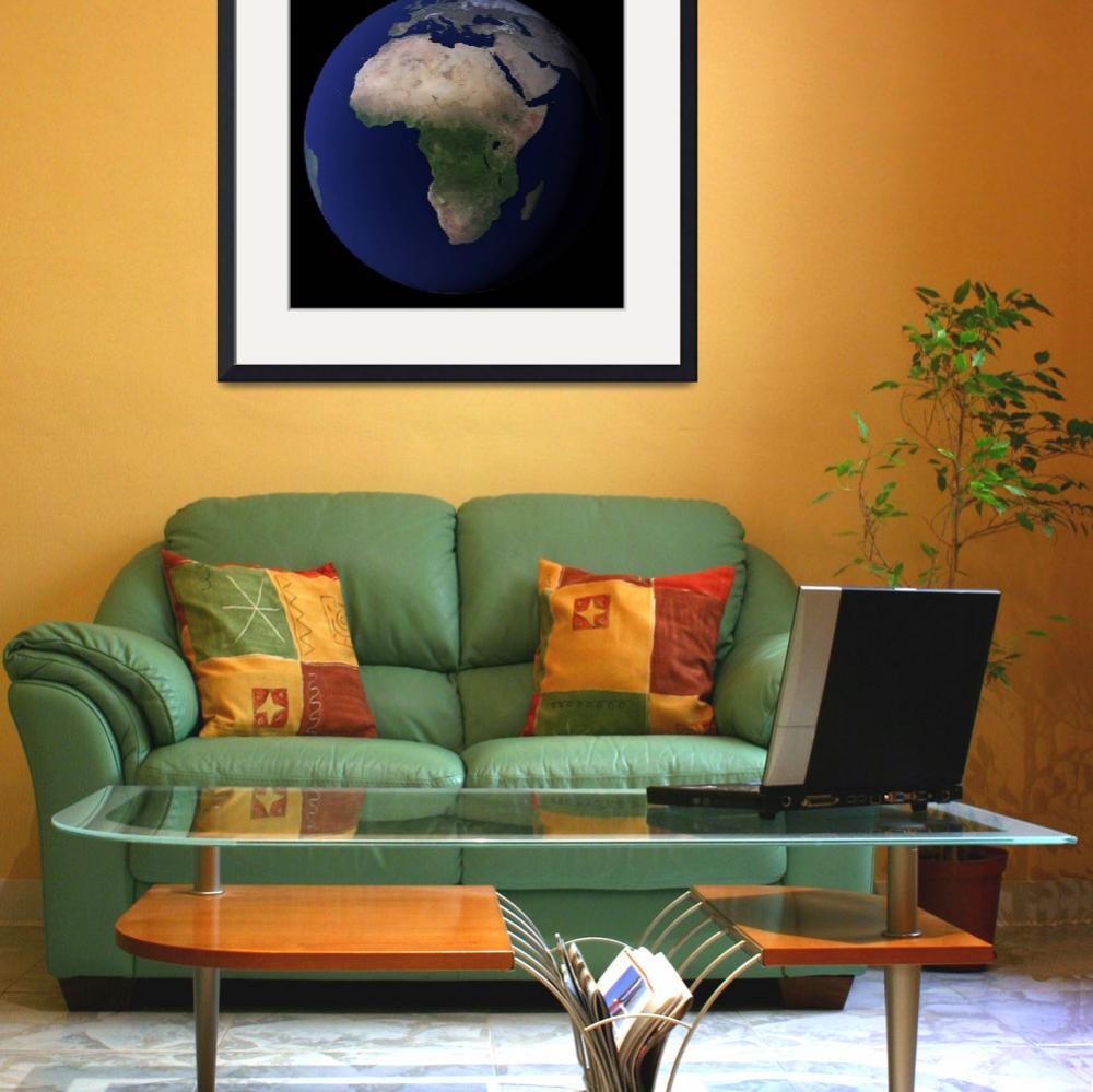 """""""Full Earth showing Africa, Europe, &  Middle East.&quot  by stocktrekimages"""