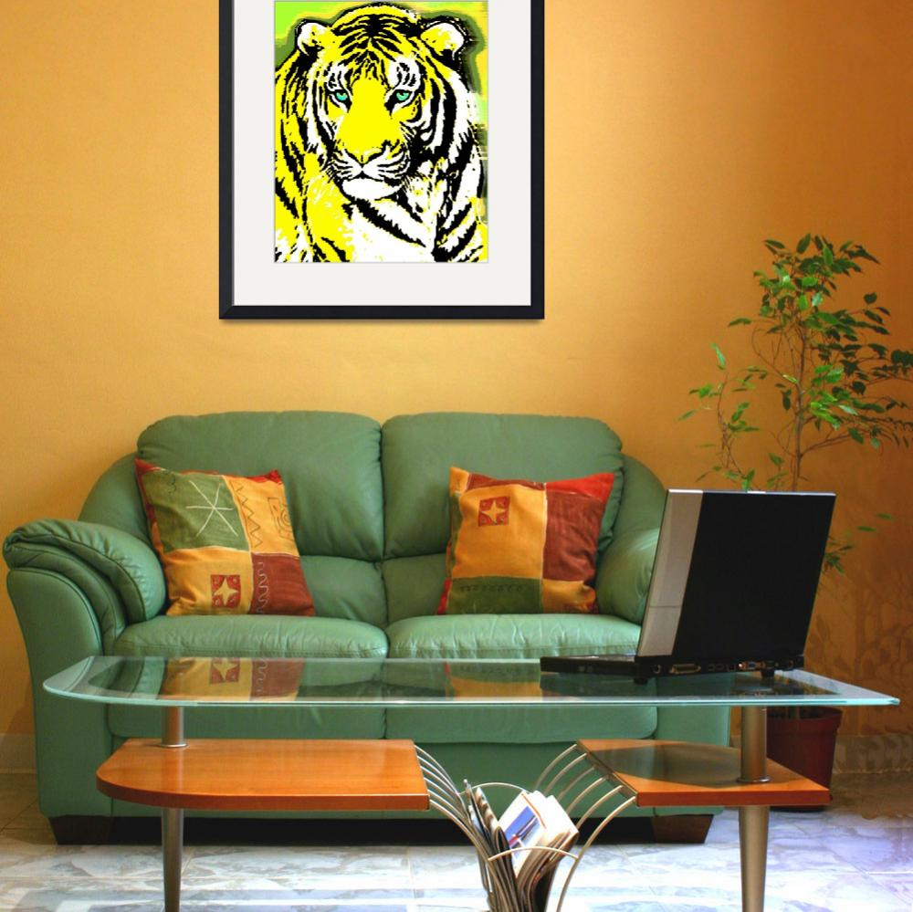 """""""TIGER-3 (LARGE) YELLOW&quot  by thegriffinpassant"""