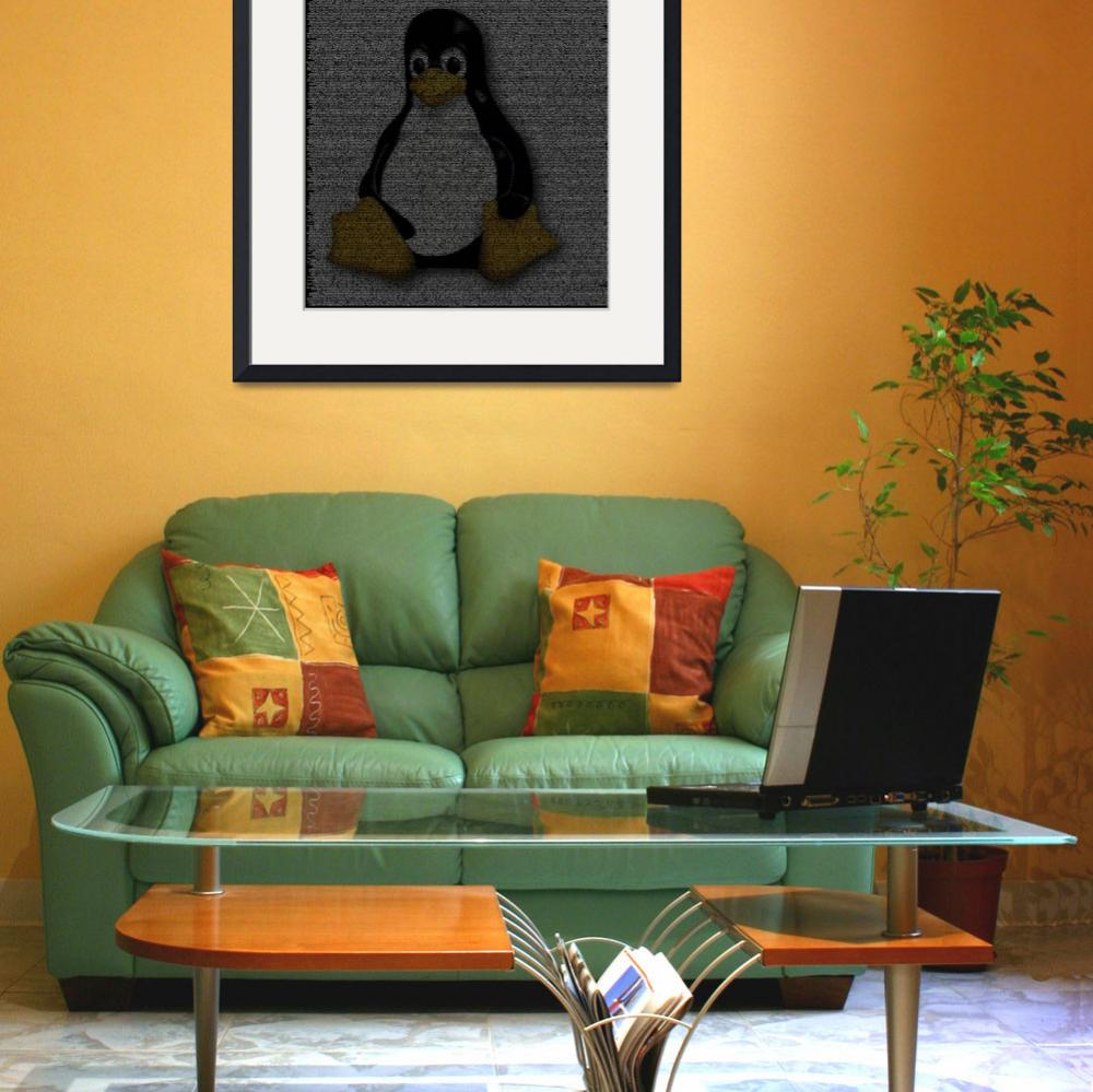 """Linux Poster from Source Code&quot  (2010) by 0xfe"