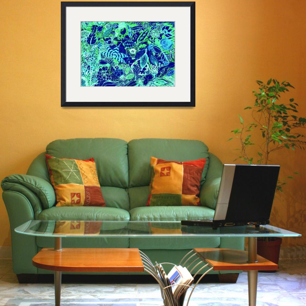 """""""Blue Jungle&quot  (2012) by MaryDolan"""