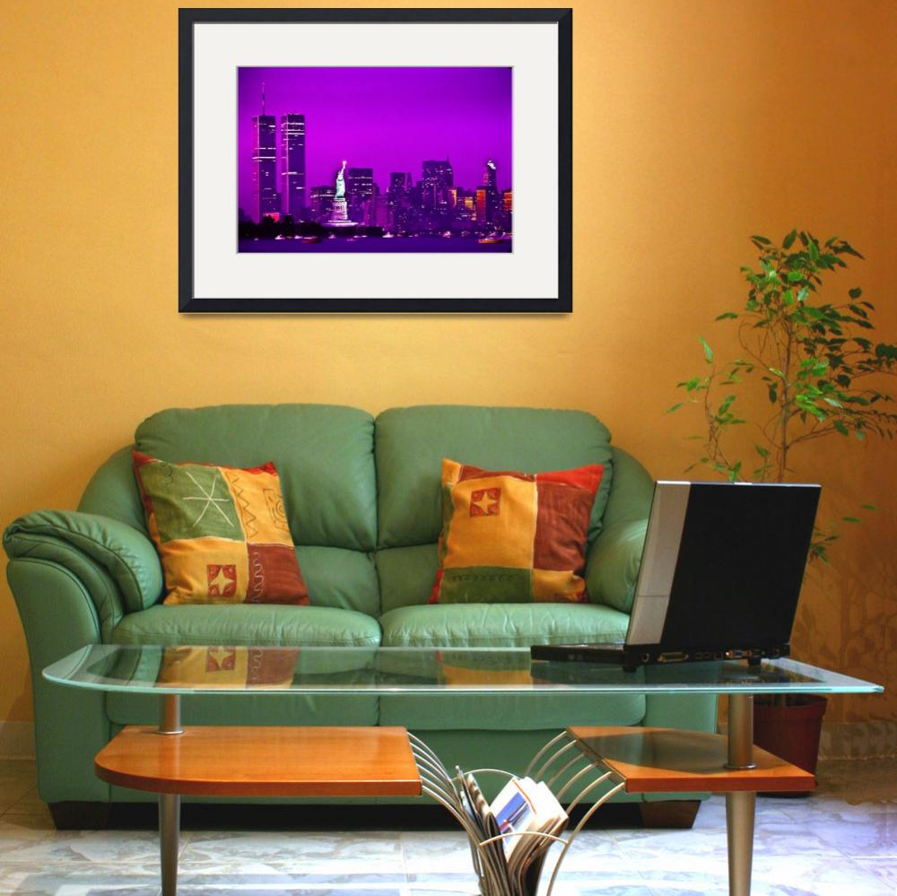 """""""World Trade Center and Statue of Liberty from Bayo&quot  by Zilberman-Sands"""