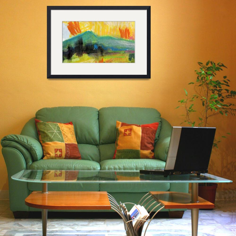 """""""Abstract Landscape WC and Pastel by Ginette""""  (2011) by GinetteCallaway"""
