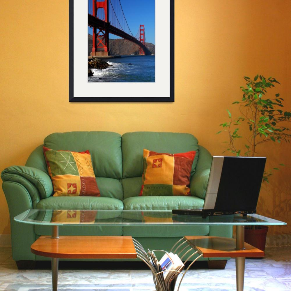 """""""Golden Gate Waves&quot  (2009) by PadgettGallery"""