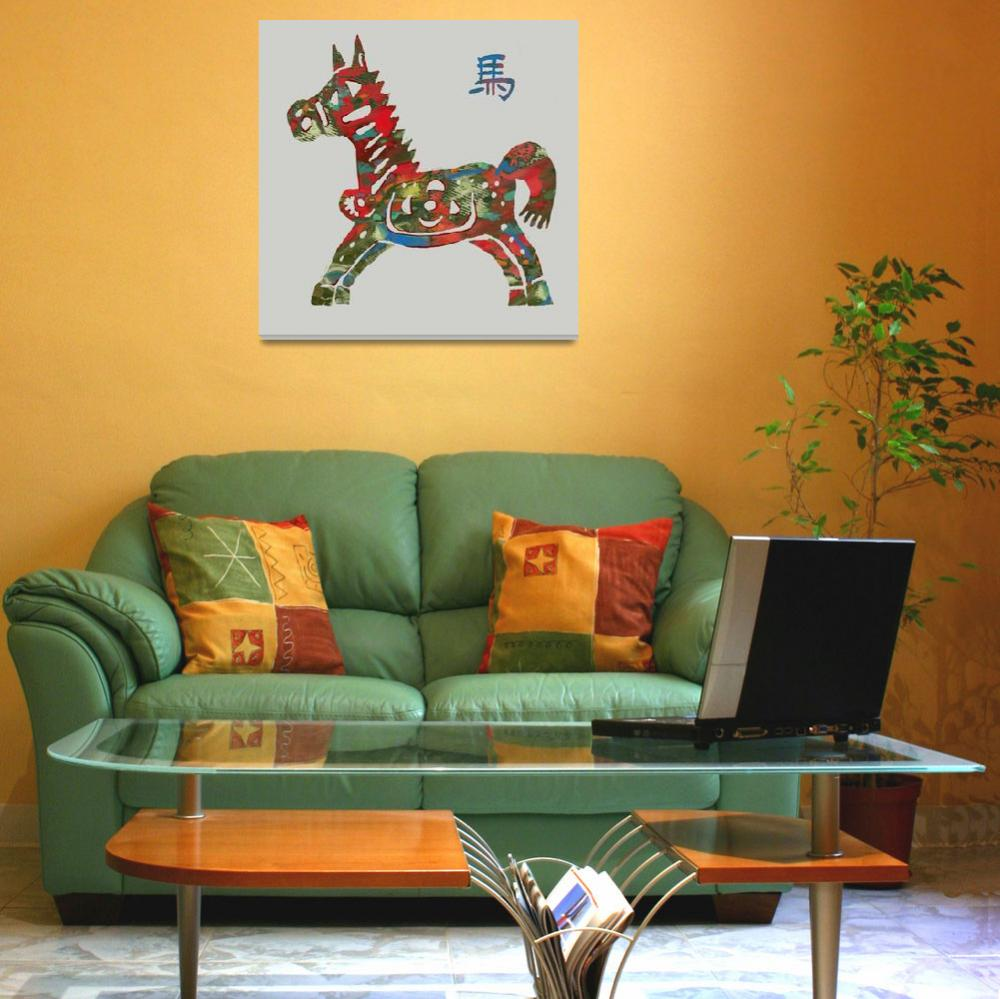 """""""The Chinese Lunar Year 12 Animal - Horse Pop art""""  (2013) by visualharbour"""