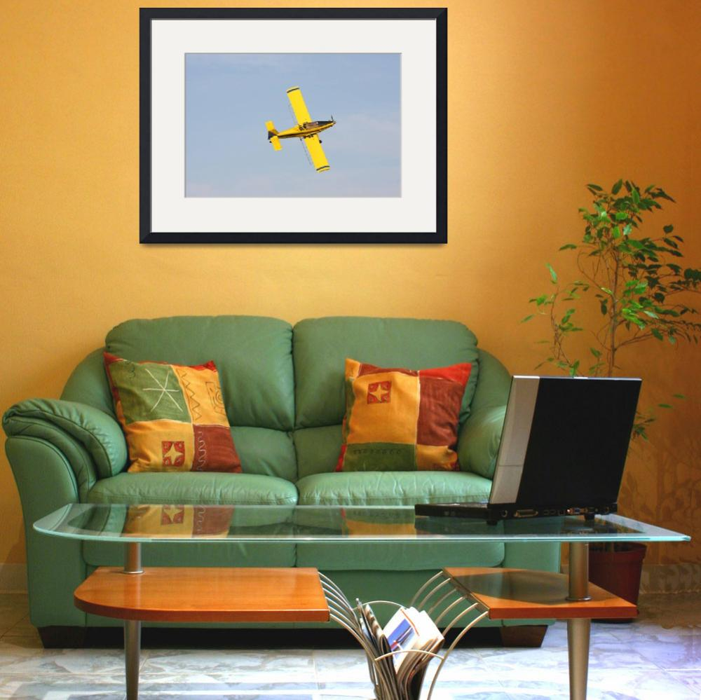 """""""Crop dusting plane in action&quot  by cameragal"""