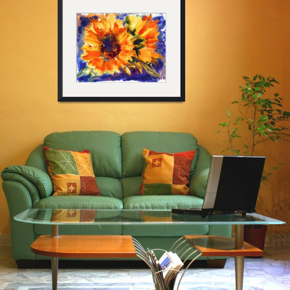 """""""sunflowers watercolor on yupo&quot  by YevgeniaWatts"""