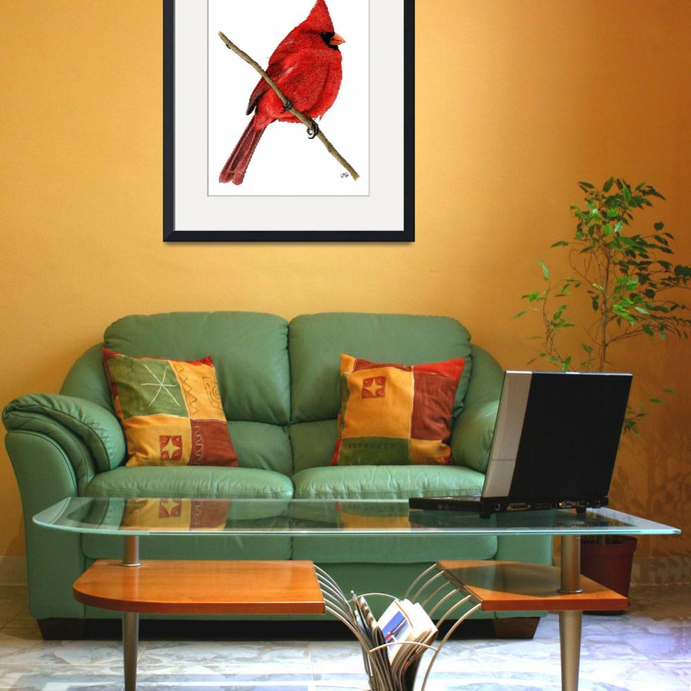 """""""Northern Cardinal&quot  by inkart"""