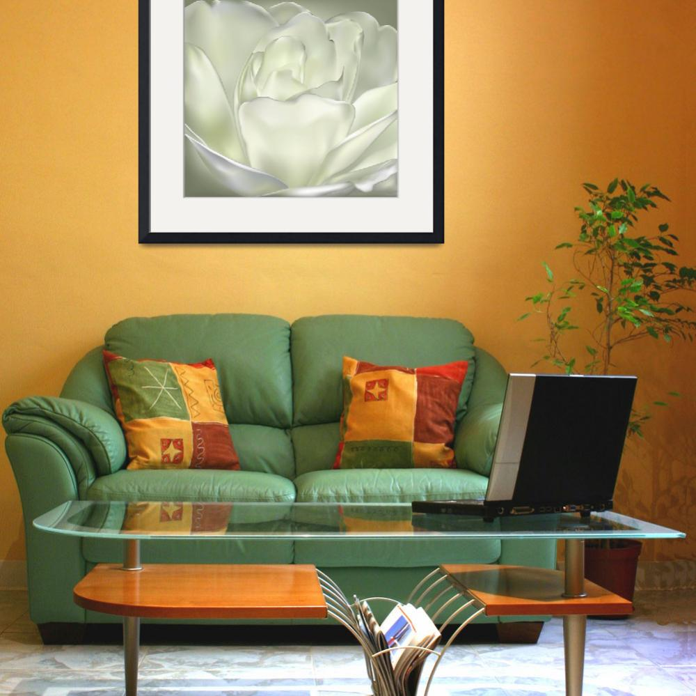 """""""White Camellia Flower&quot  (2013) by AnneSoule"""