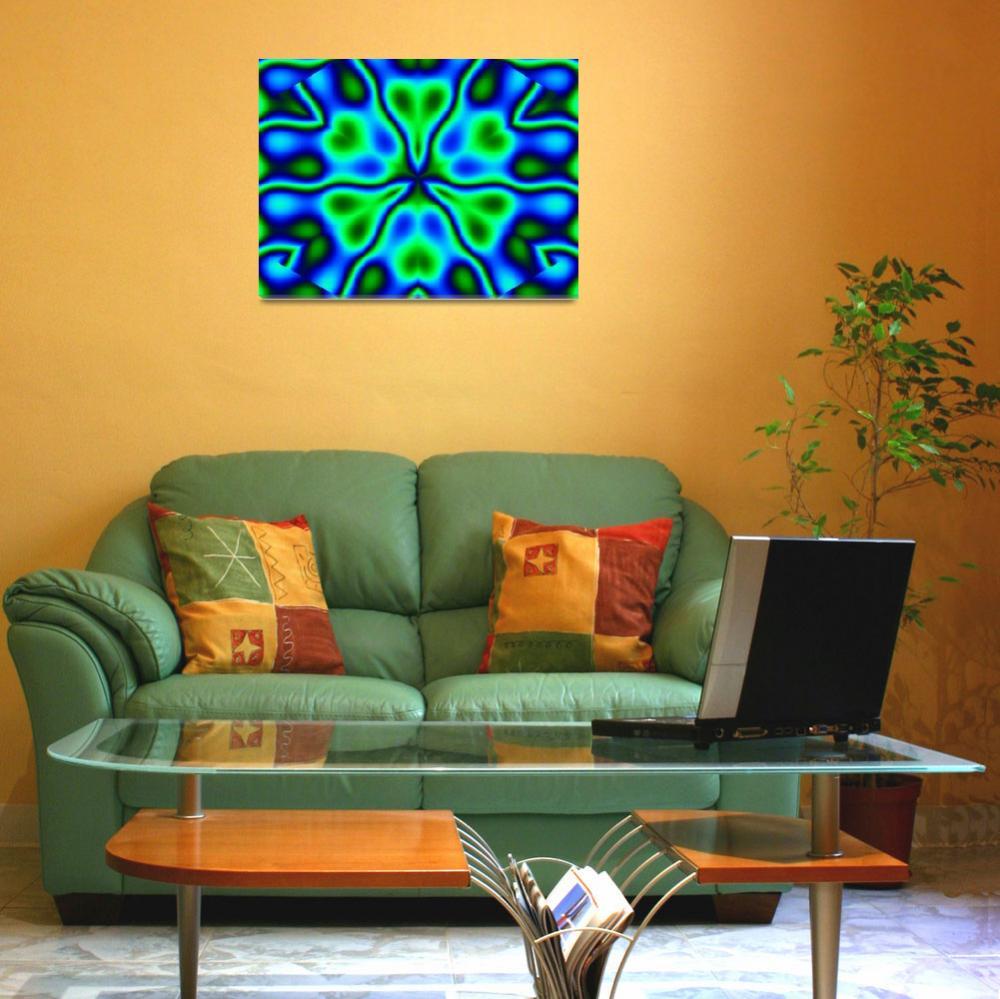 """California Wildflowers in Blue and Green""  by Atlantis-Seeker-Art"