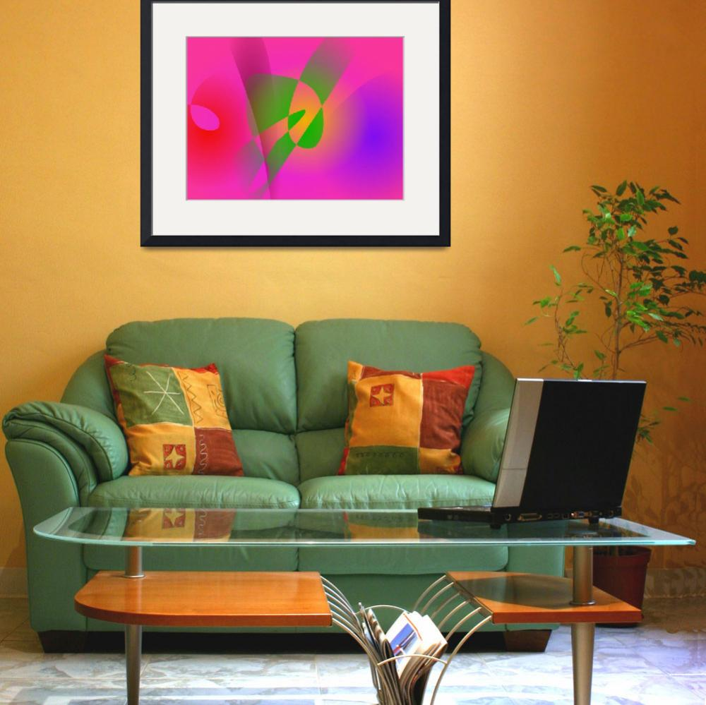 """""""Contrasting Abstract Colors Dark Pink&quot  (2014) by masabo"""