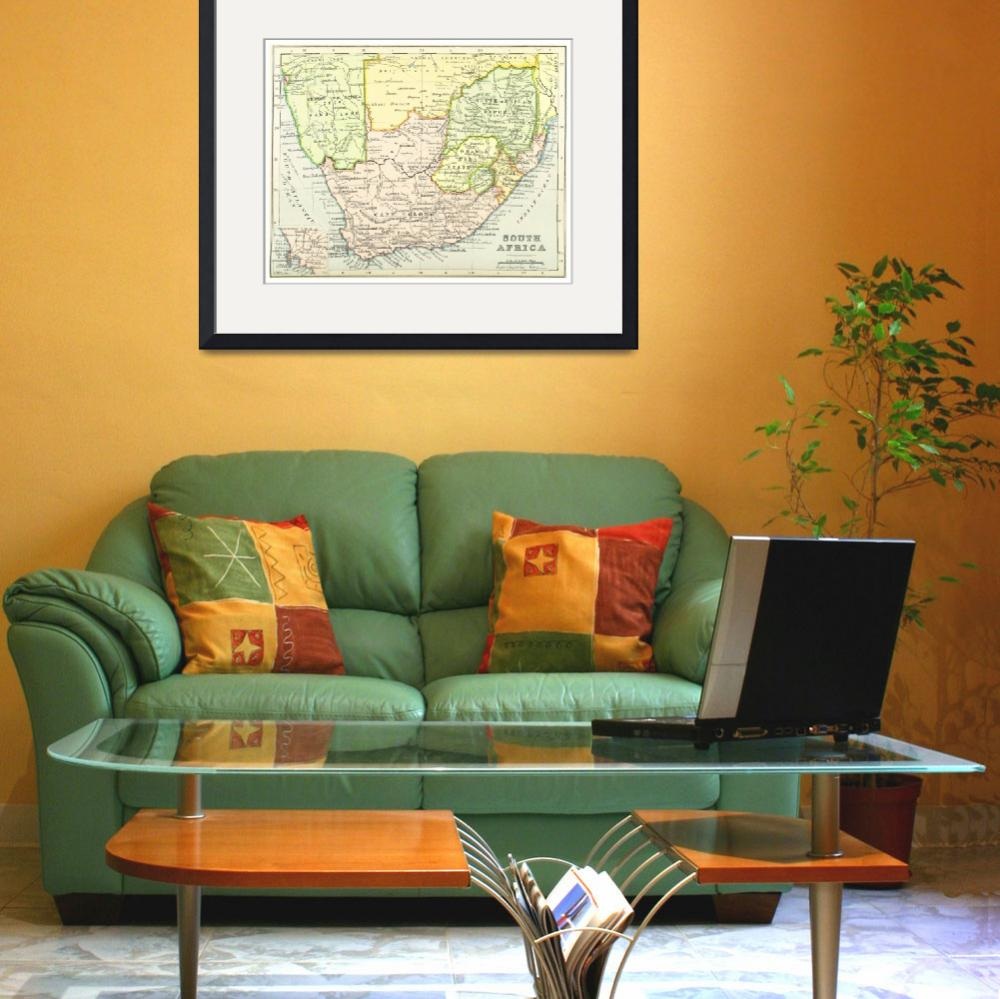"""""""Vintage Map of South Africa (1899)&quot  by Alleycatshirts"""
