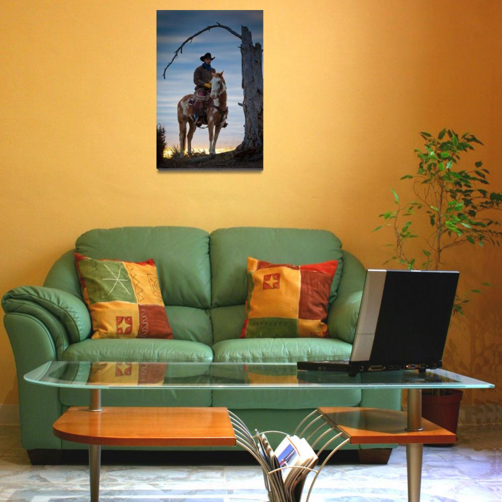 """""""Cowboy Under Tree&quot  (2012) by Inge-Johnsson"""