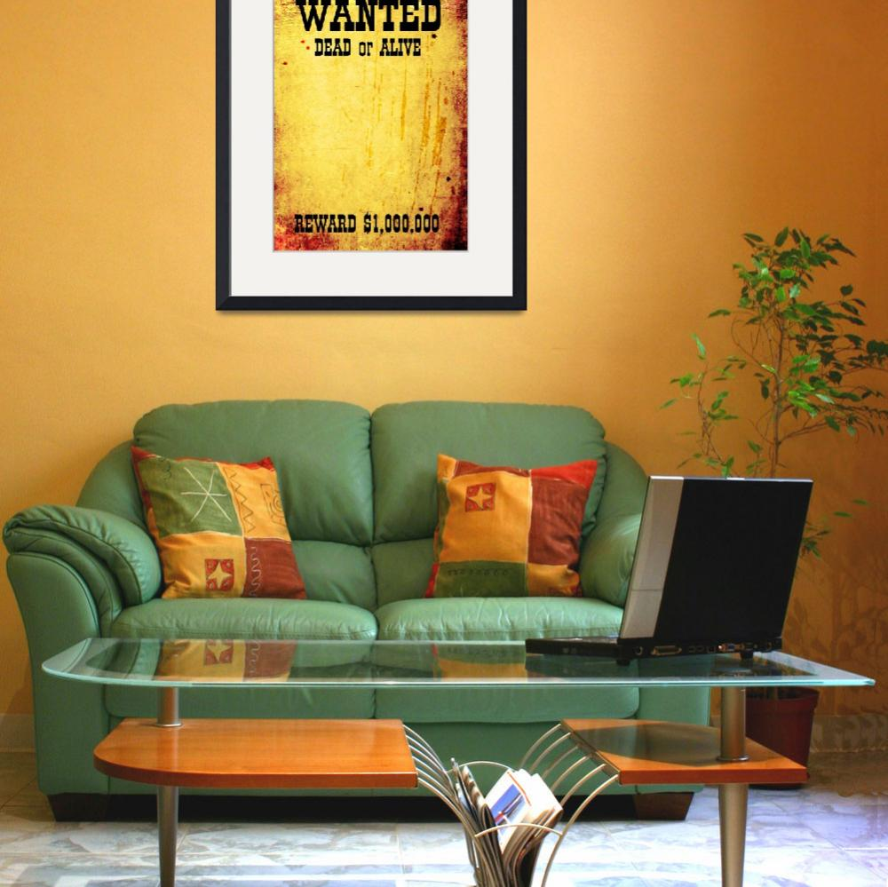 """""""WANTED poster&quot  by IndianSummer"""