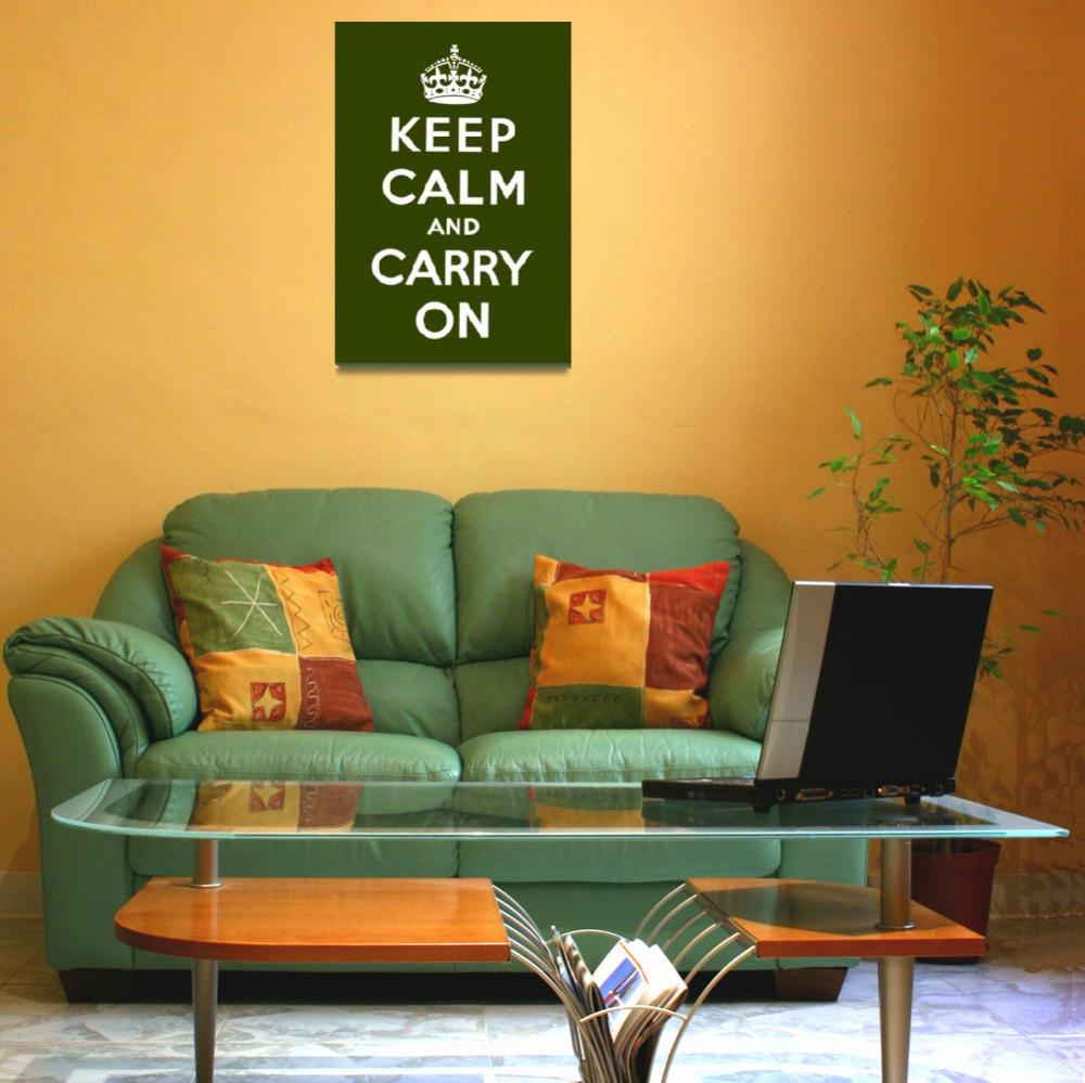 """""""Green Keep Calm And Carry On 4&quot  by oldies"""