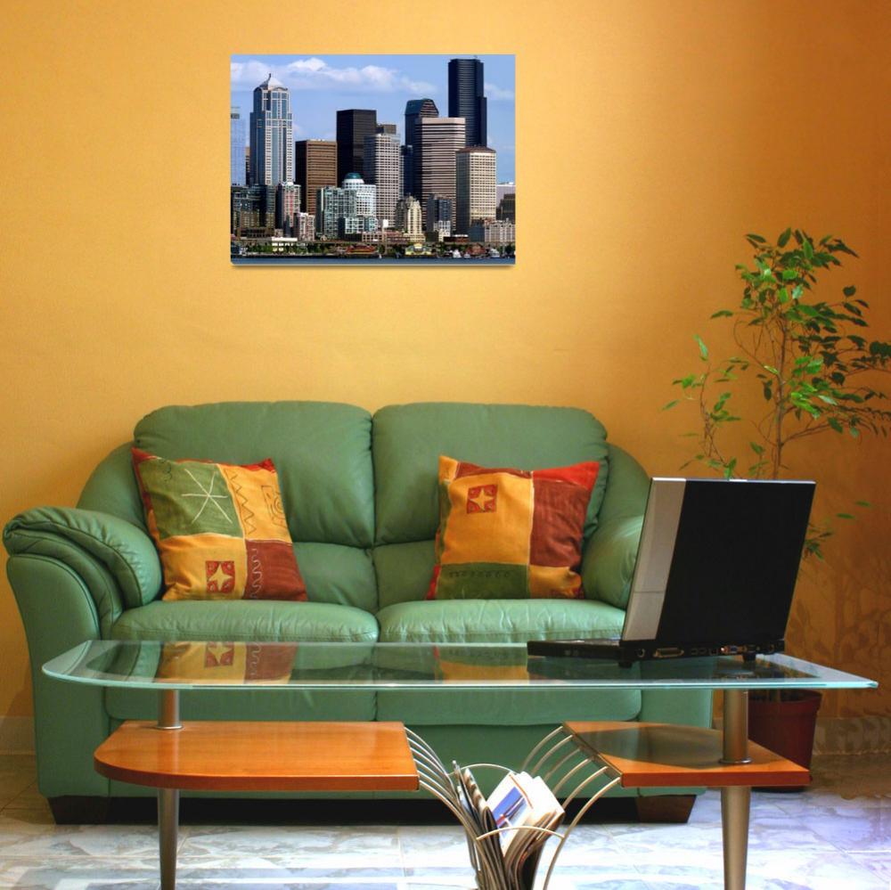 """""""Seattle Skyline two""""  (2009) by gopnw"""
