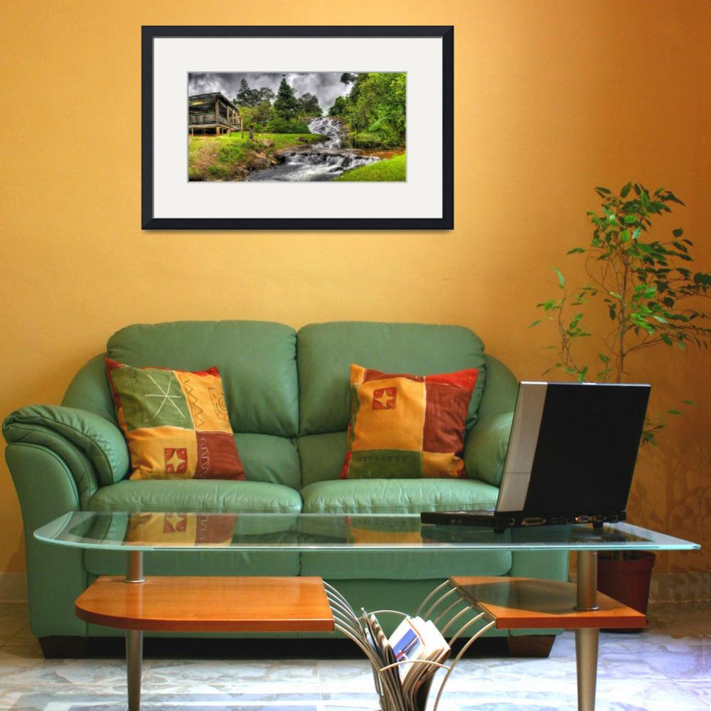 """""""Mungalli Falls Tea House and Rapids&quot  (2008) by oasisphotographics"""