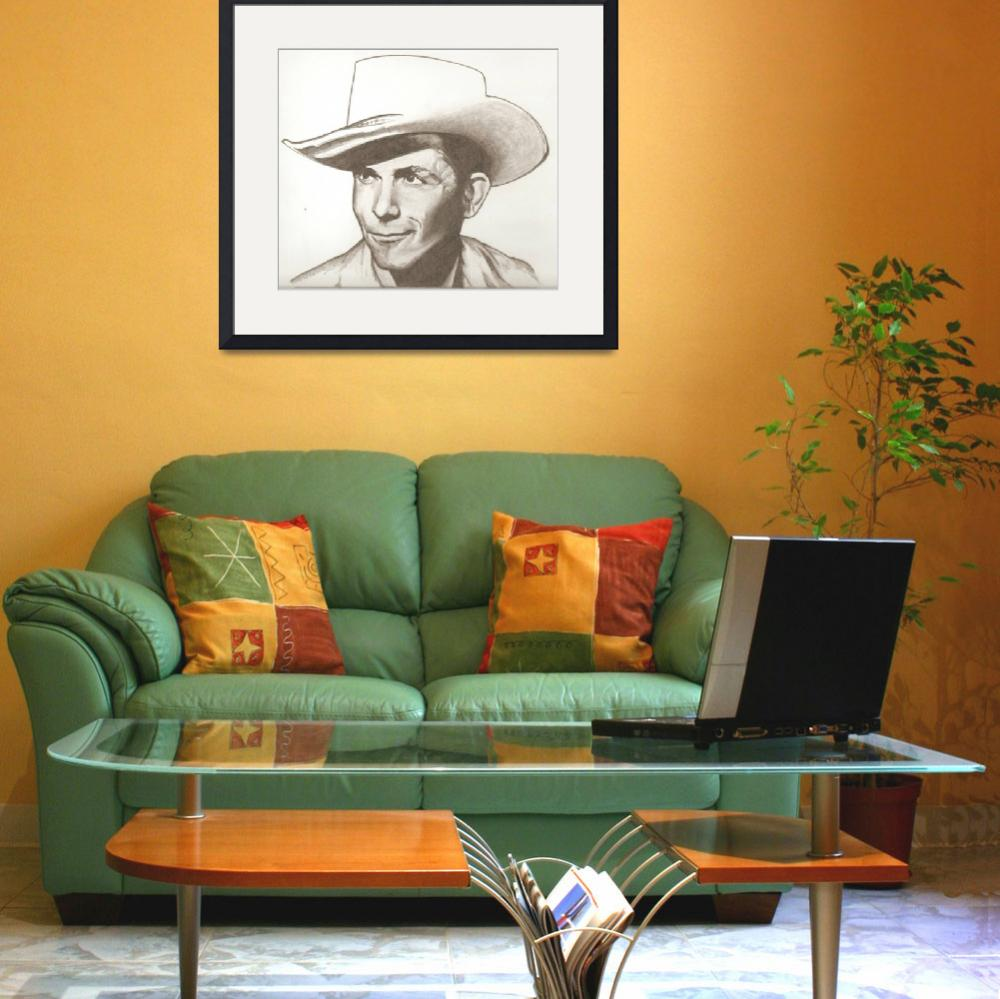 """""""Hank Williams drawing""""  (2013) by RobCrandall"""