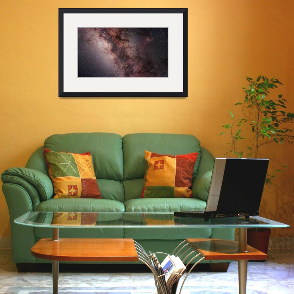 """""""Stars nebulae and dust clouds around the center of&quot  by stocktrekimages"""