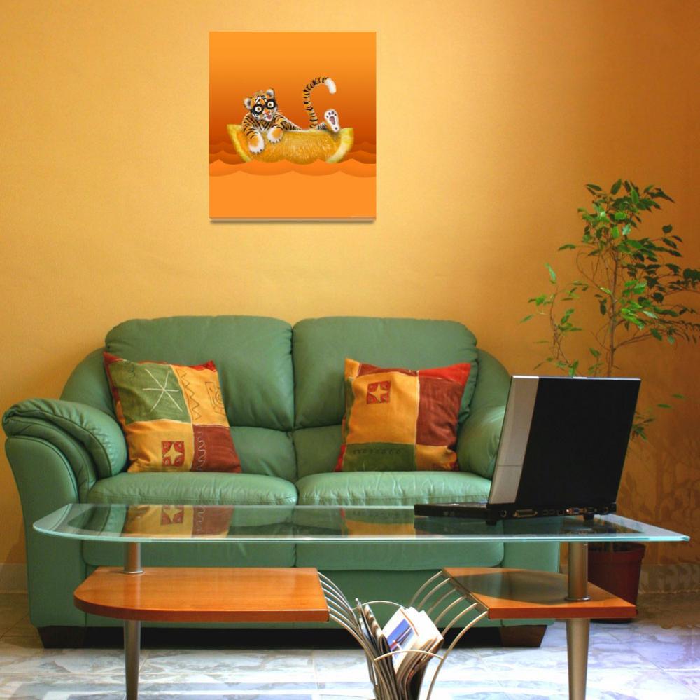 """Tiger and Orange""  (2013) by ellsworth"