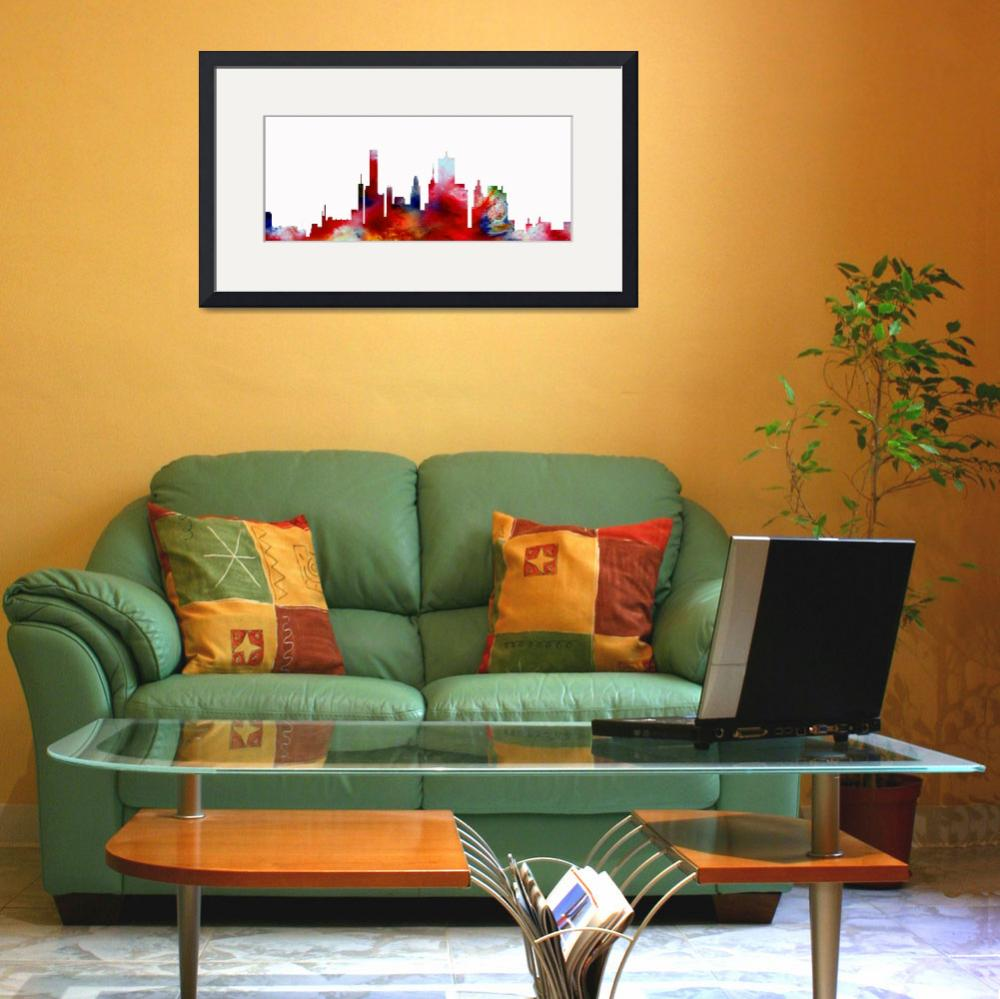 """""""Decorative Skyline Abstract  Houston T1115D&quot  (2015) by MasArtStudio"""