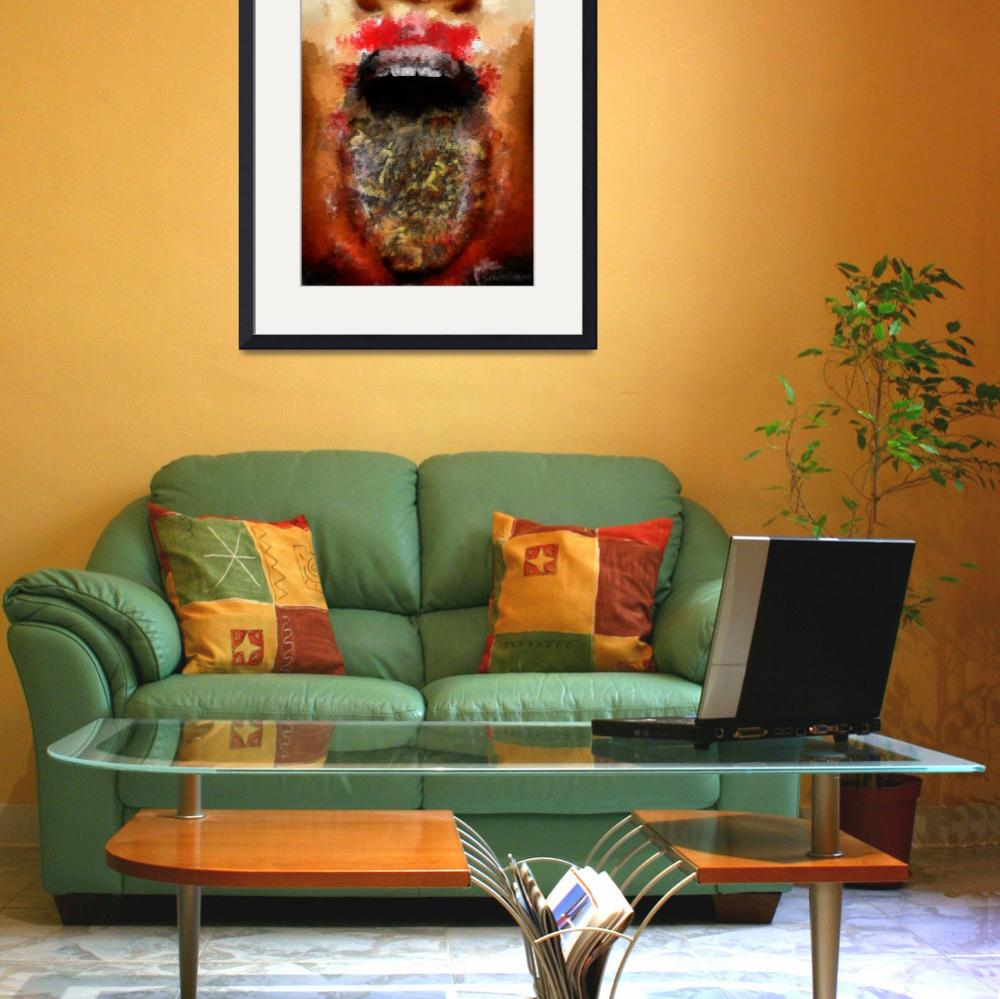 """Mouth art print by Goriani""  (2012) by greenvipe"