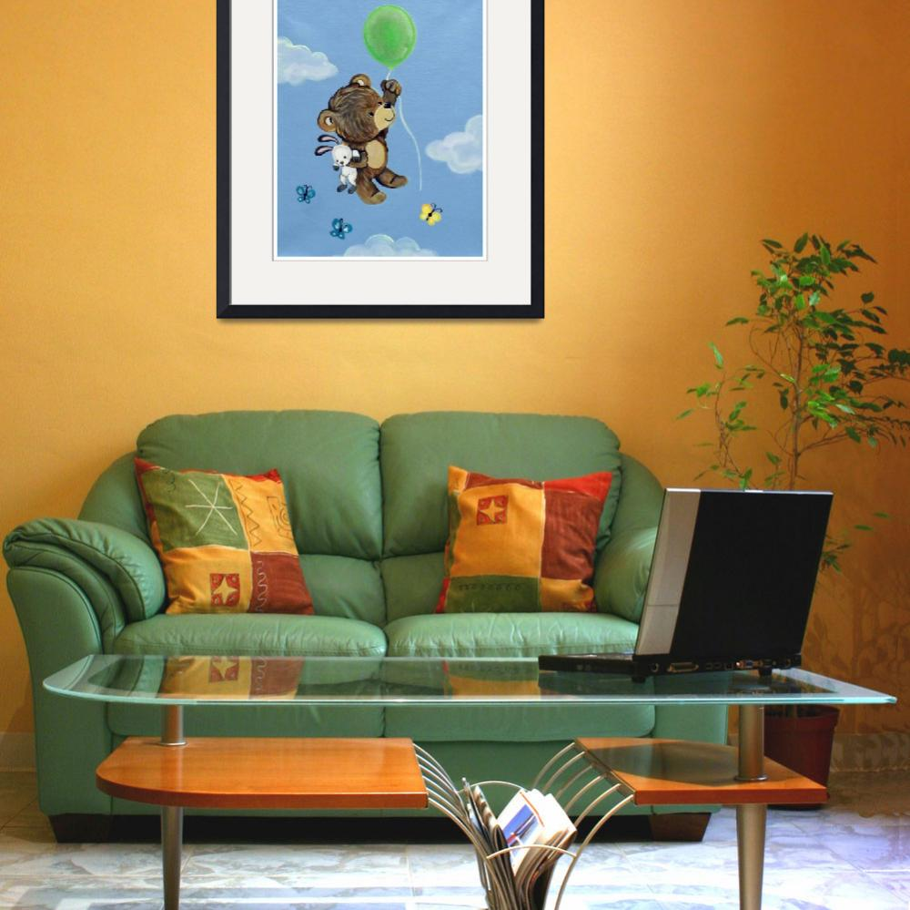 """Fly Away Forest Animals - Bear and Bunny&quot  (2014) by Littlepig"