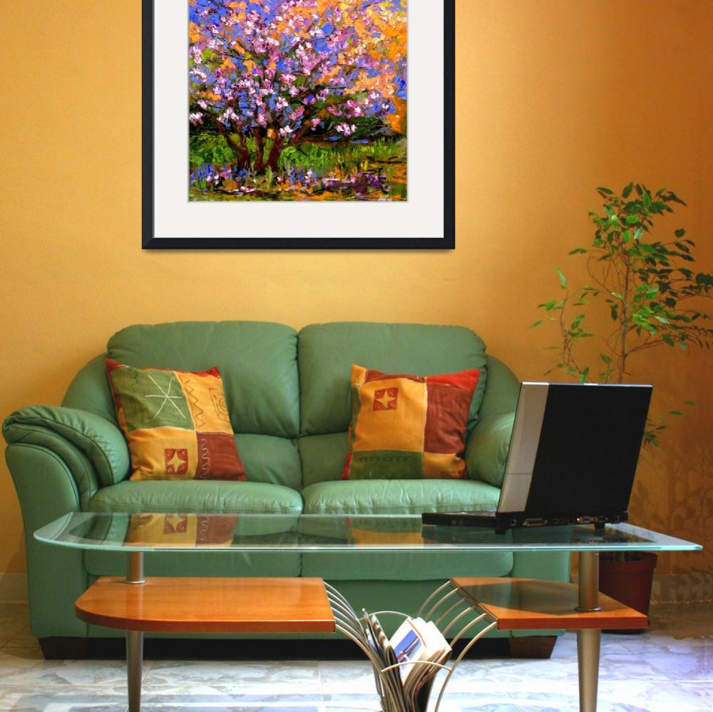 """""""Pink BlossomTree Oil Painting&quot  (2005) by GinetteCallaway"""