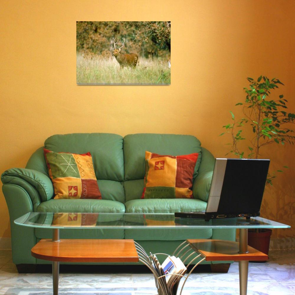 """Endangered Barasingha Swamp Deer Stag""  by ArtLoversOnline"