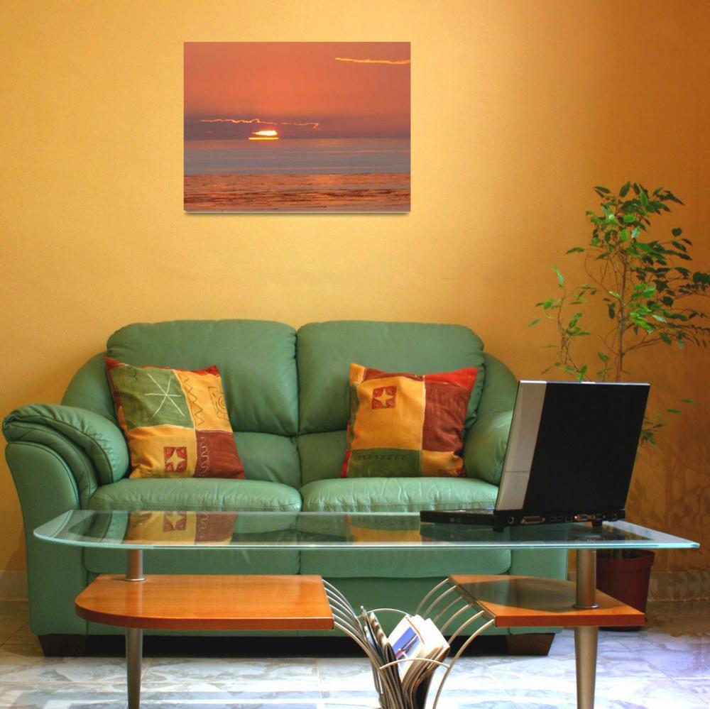 """beach sunset  8""  (2006) by kreinke"