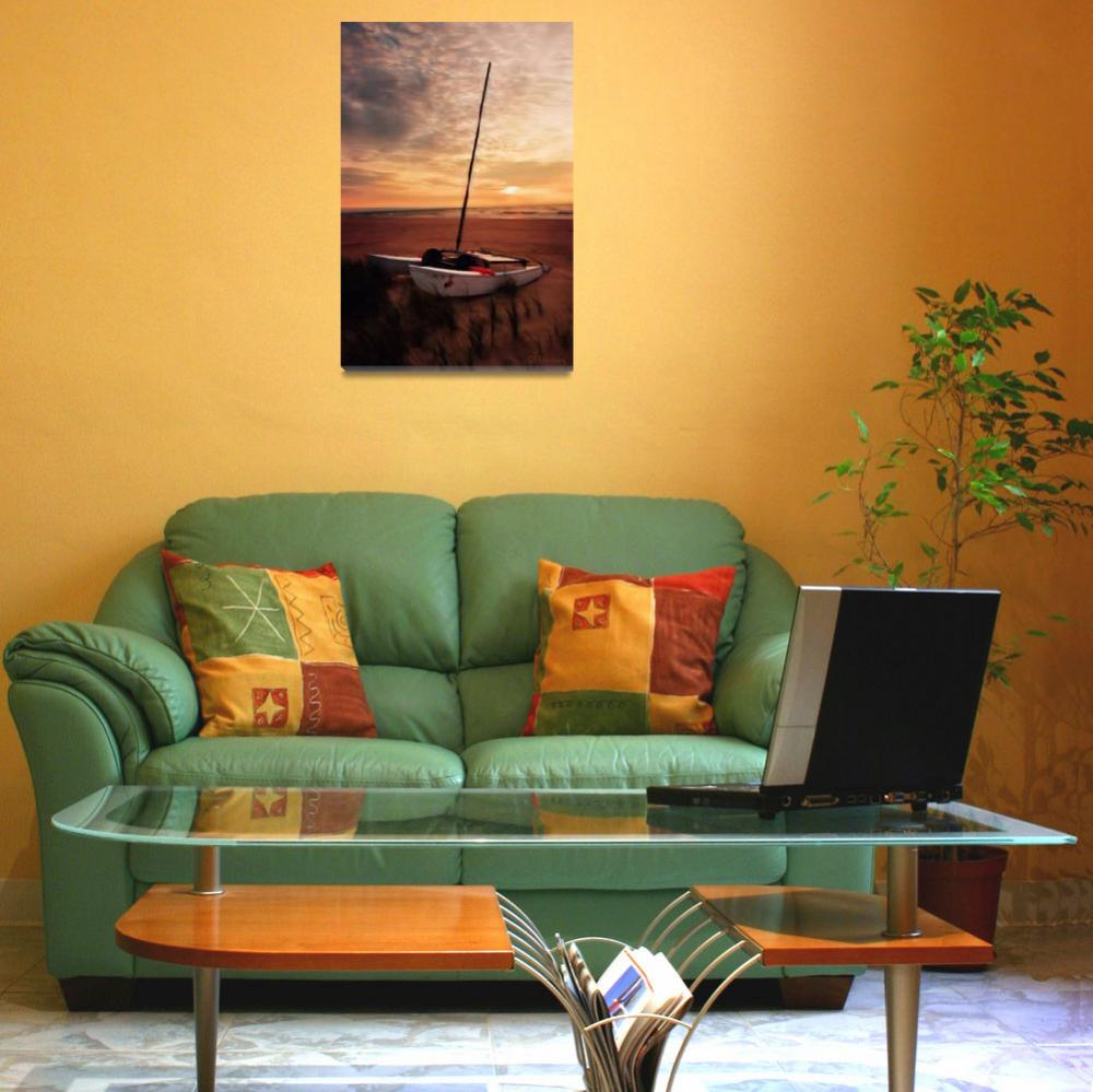 """sunset_sailboat_mh&quot  (2006) by ChiliDogFineArt"