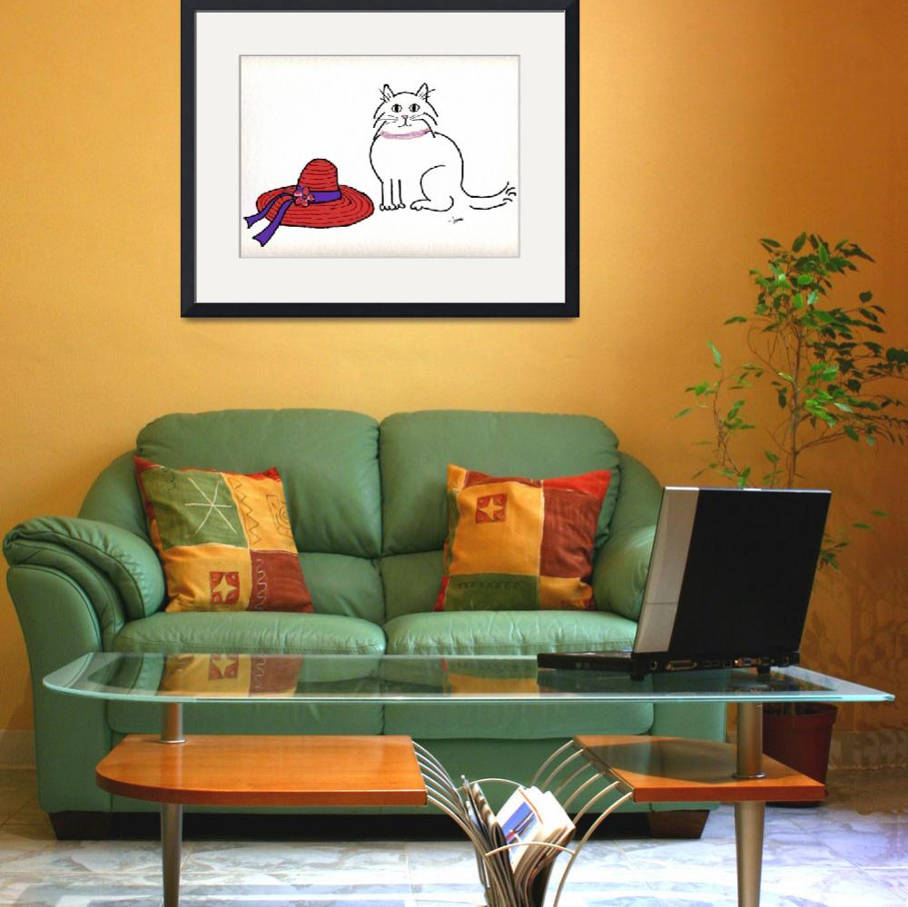 """""""Purrfect Art for the Red Hat Ladies""""  (2009) by PawmarkDesign"""