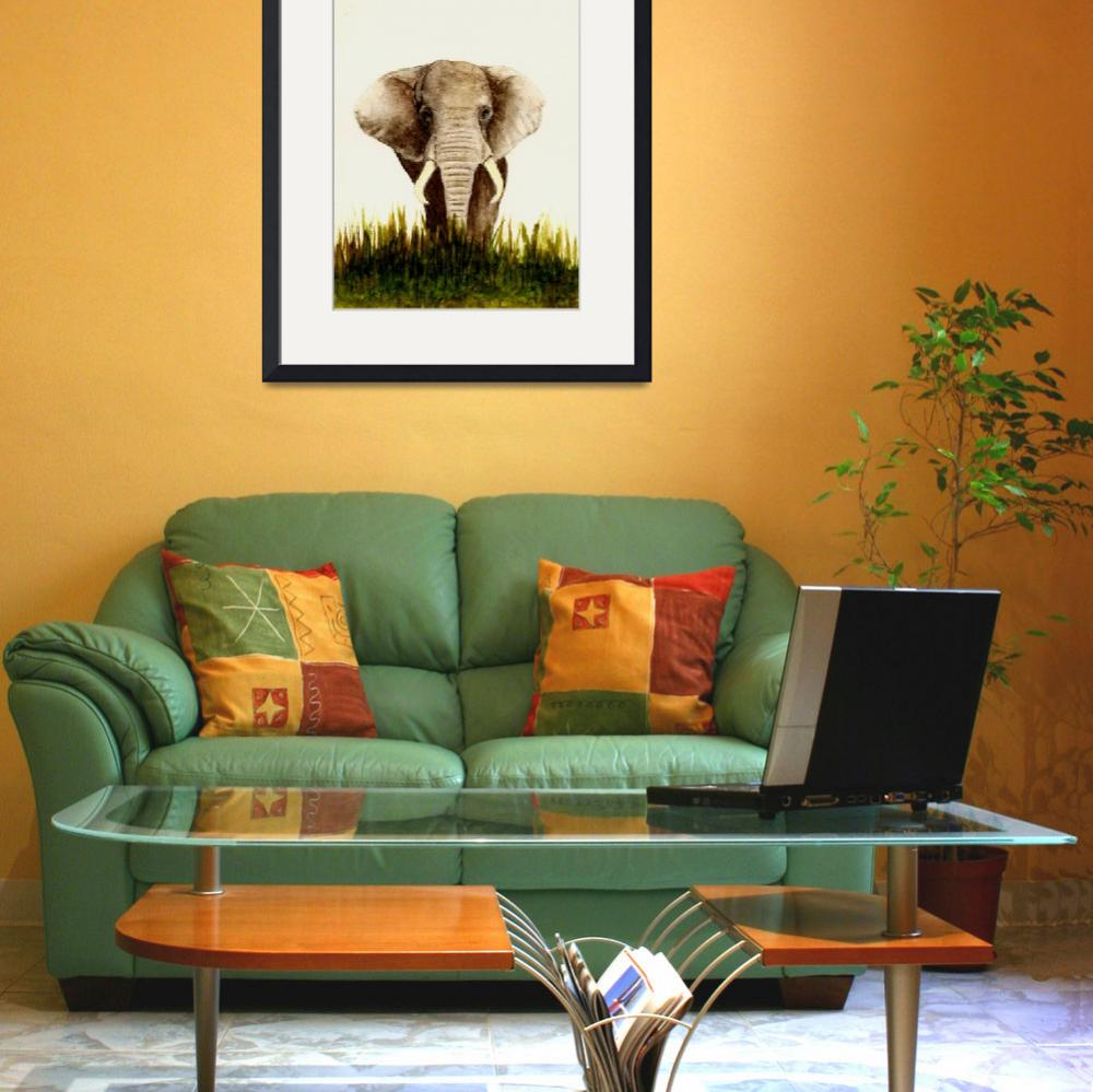 """""""African Elephant""""  (2011) by vigliotti"""