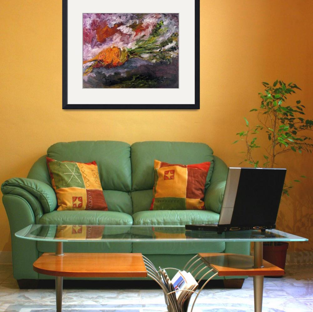 """""""Baby Carrot Impressionist Oil Painting by Ginette&quot  (2011) by GinetteCallaway"""